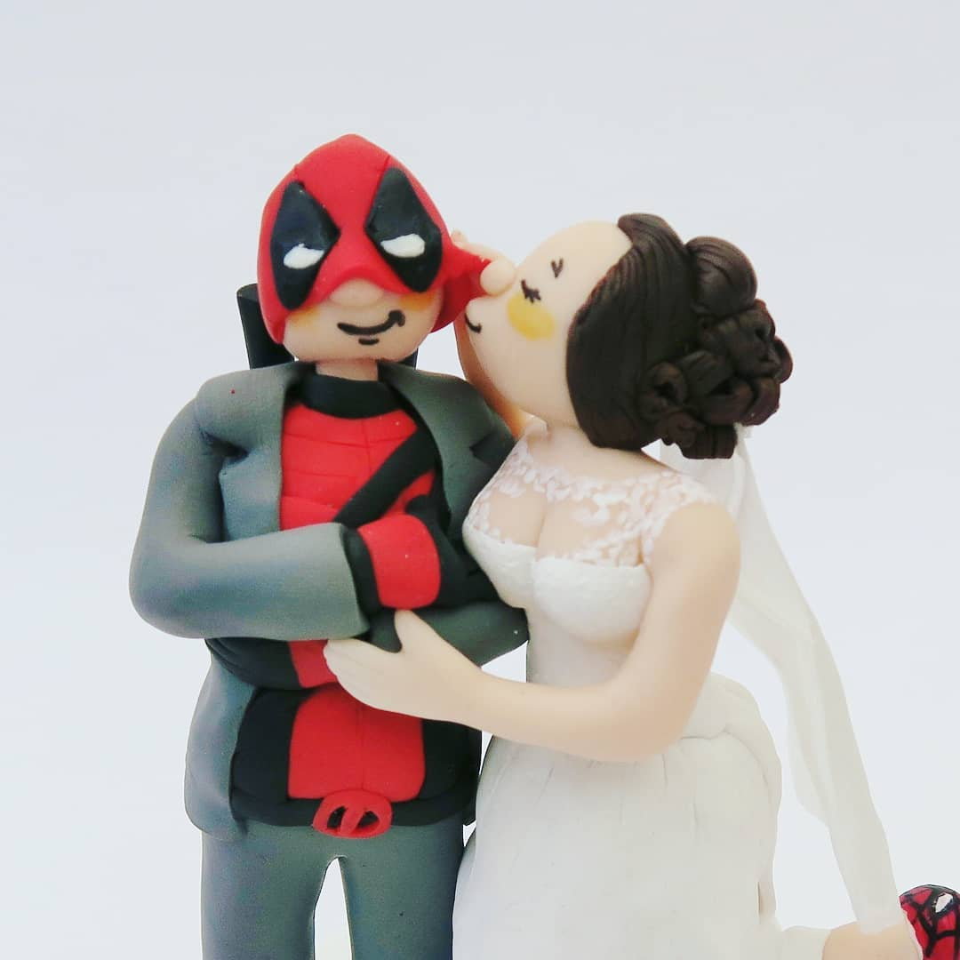 Funny couple wedding cake topper