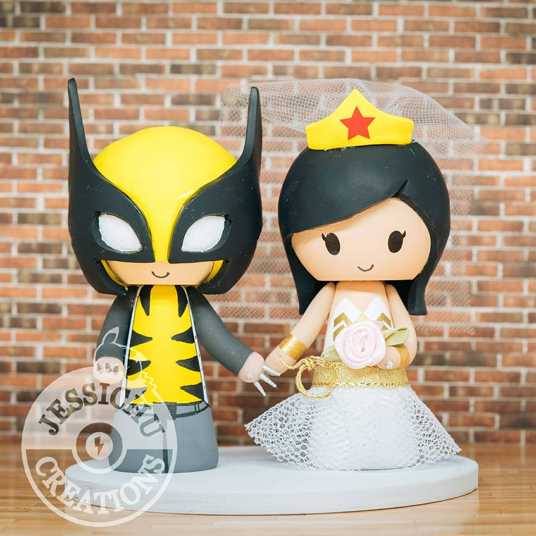 King and queen wedding cake topper