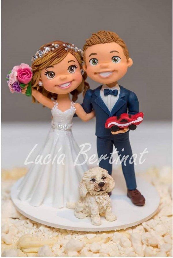 Loveable wedding cake topper