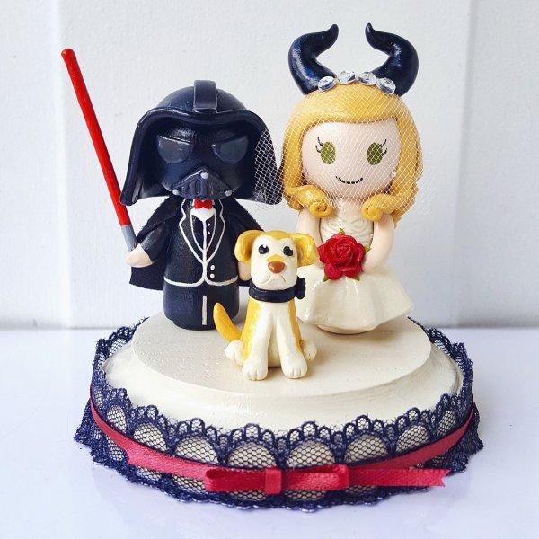 Marvelous disney wedding cake topper