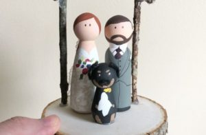 Nice handmade wedding cake toppers