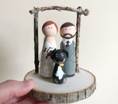 Nice handmade wedding cake toppers