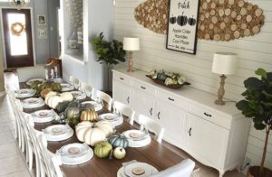 Pumpkin Decorated Thanksgiving Table For Farm House