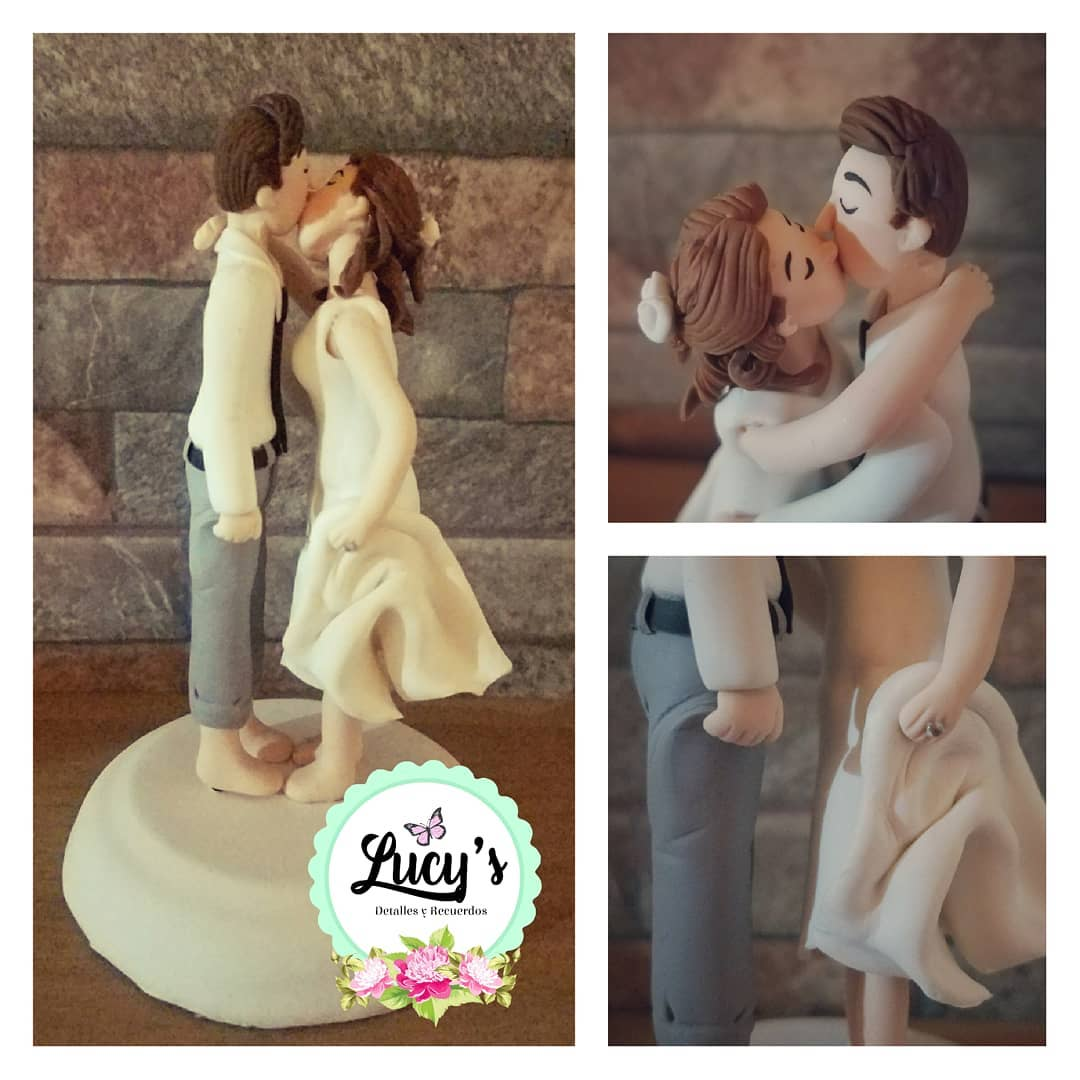 Romantic couple wedding cake toppers