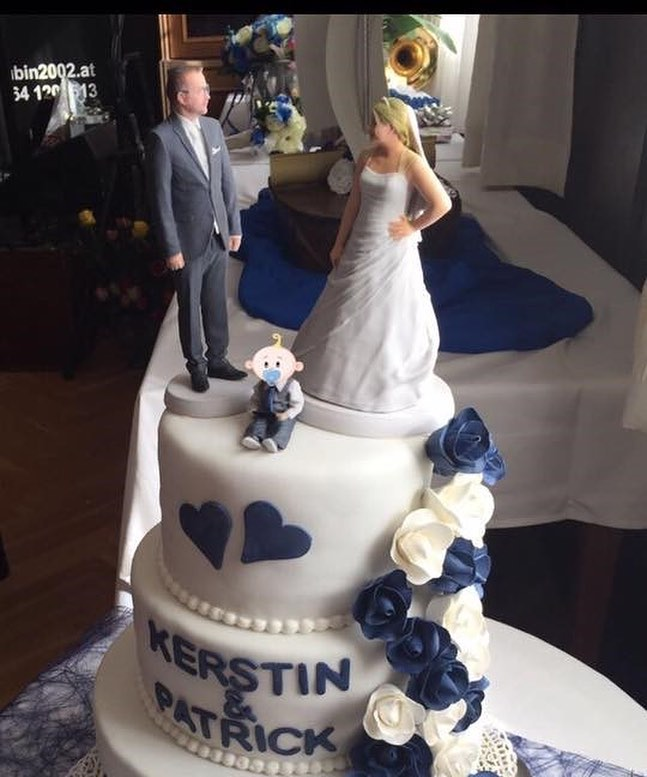 Special made family wedding cake topper