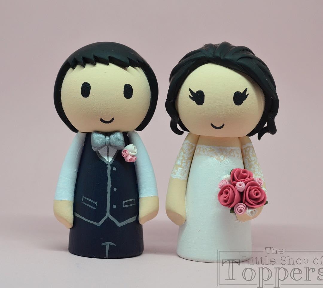 Sweetly designed wedding cake topper