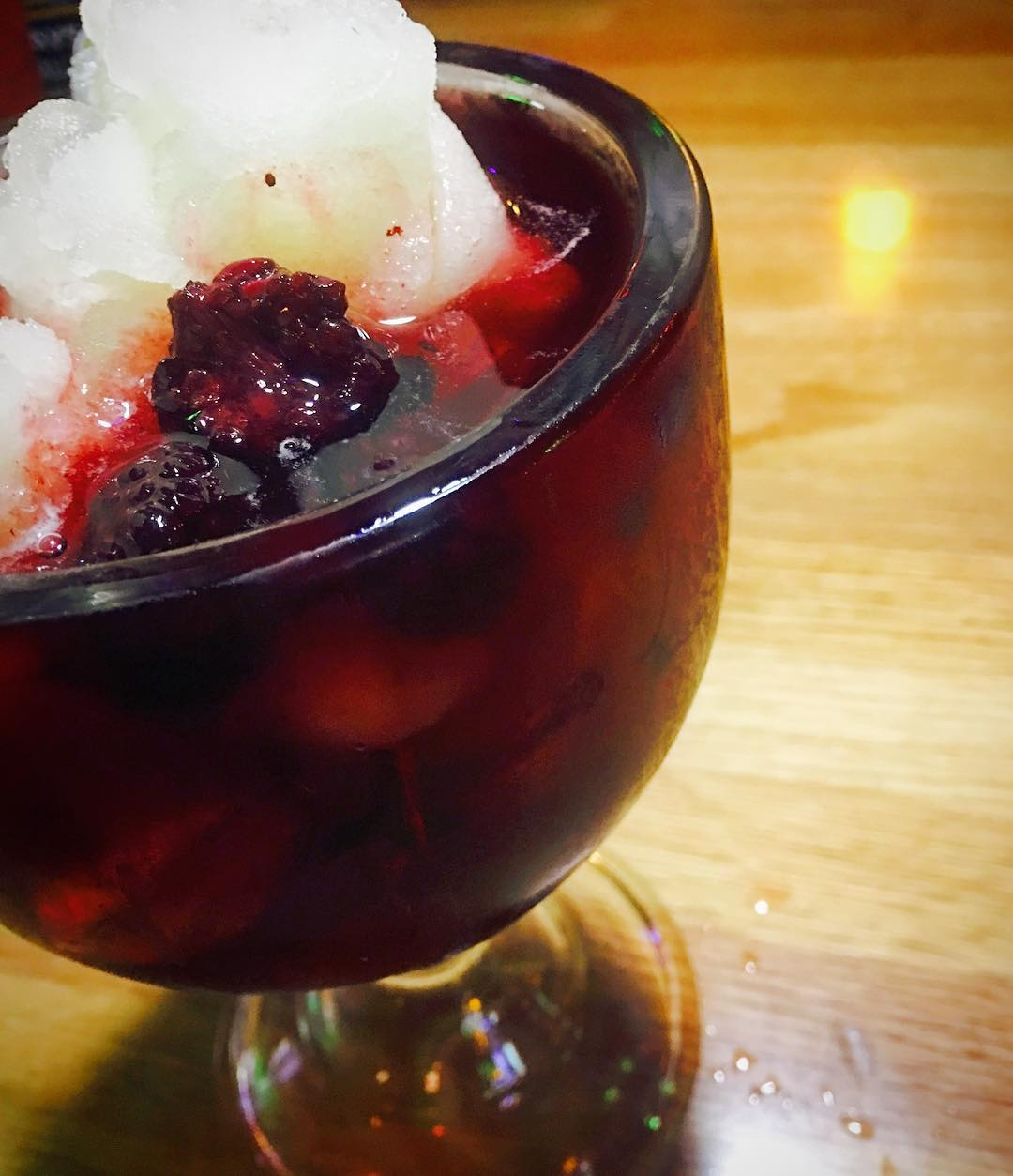 Awesome frozen lemonade with black berries. Pic by arcevox