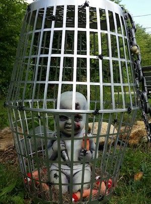 Creepy Halloween Decor Idea.