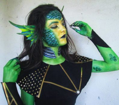 Mermaid makeup idea for halloween. Pic bybermansfx