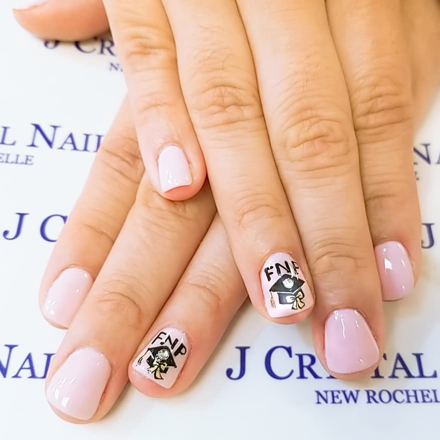 45 Awesome Graduation Party Nail Designs For Your Big Day