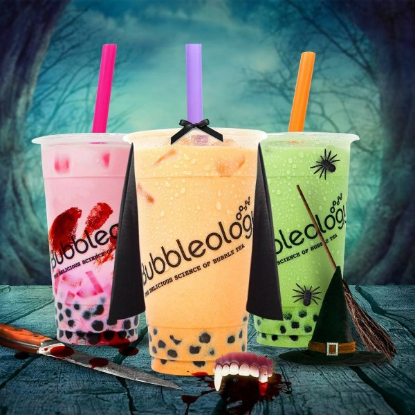 Pumpkin spice, witches brew and vampire blood terrifying tasty Halloween drinks. Pic by bubbleology