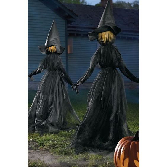 Witch Decor for Backyard for Halloween Party.