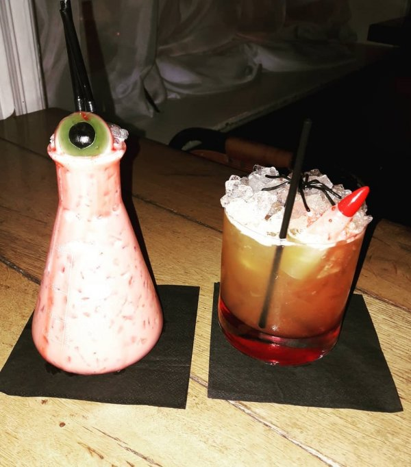Wonderful spooky cocktail. Pic by justacoupleofcocktails