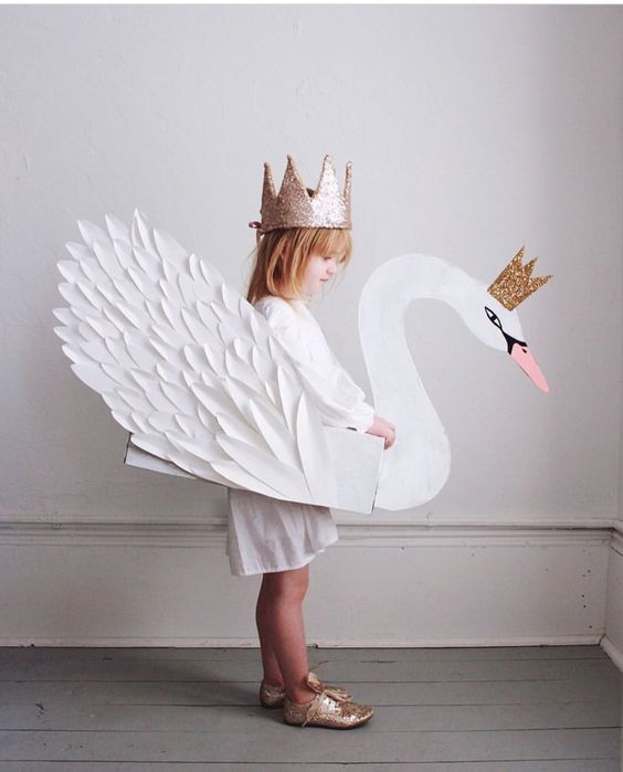 Awesome DIY swan costume for girl.