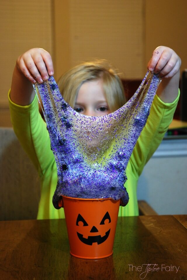 Awesome halloween spider slime.