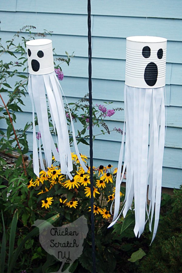 Awesome hanging tin cane ghosts.