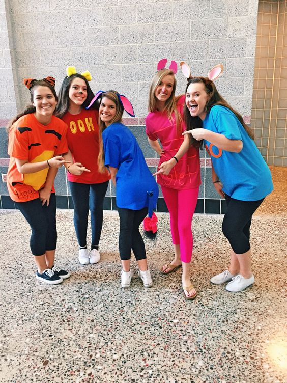 Best Winnie the Pooh character Halloween costume for group.