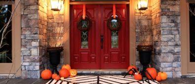 Halloween Front Door Decor