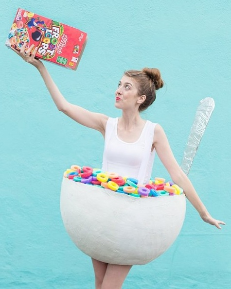 Cereal bowl homemade costume. Pic by craftgawker