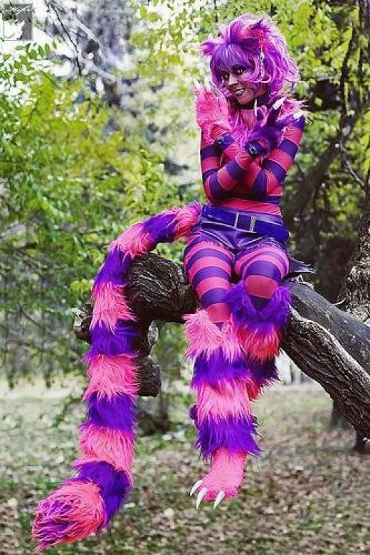 Cheshire cat Halloween costume. Pic by Adult Halloween Costumes