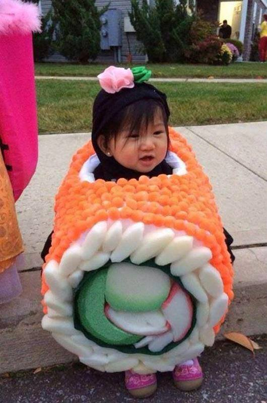Creative Sushi which I have ever seen ready for Halloween party.