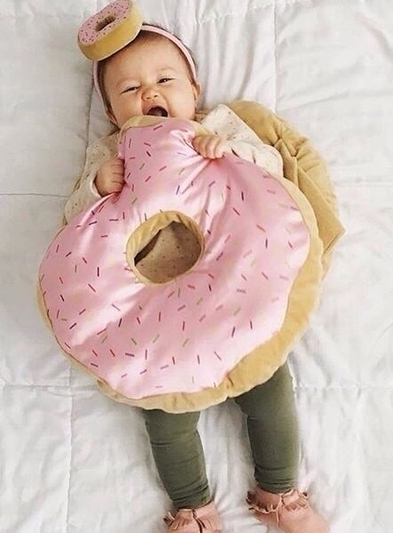 DIY Donut costume made for toddler.