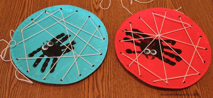DIY lacing card web.