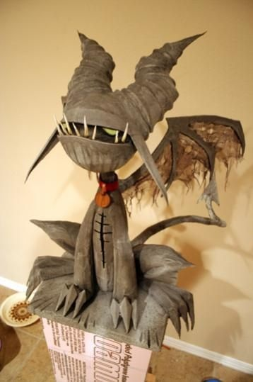 DIY monster for Halloween.