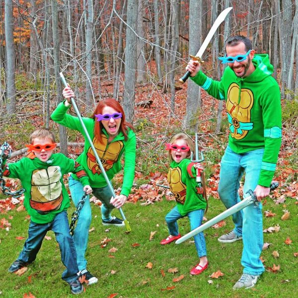 DIY superhero family costume.