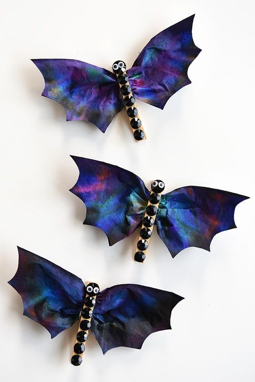Dashing coffee filter bats.