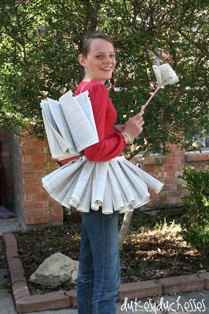 Dictionary Attire costume for Halloween.