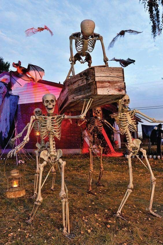 Do you want this spooky decor in your front yard.