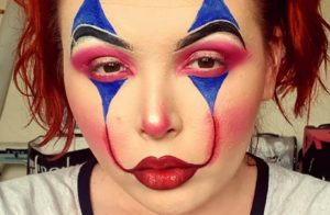 Fabulous clown makeup done within 15 minutes.