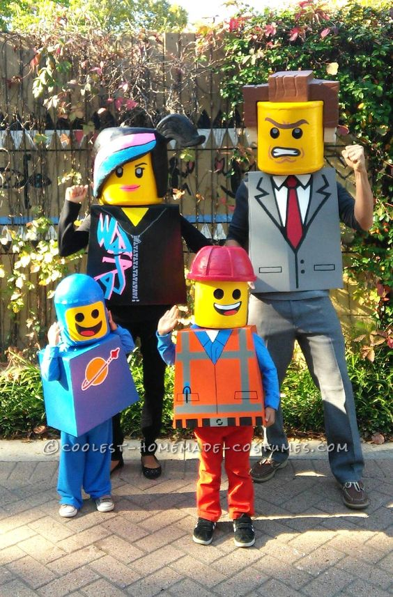 Fabulous lego family costumes.