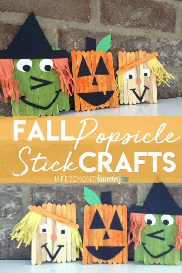Funny halloween popsticle stick crafts.