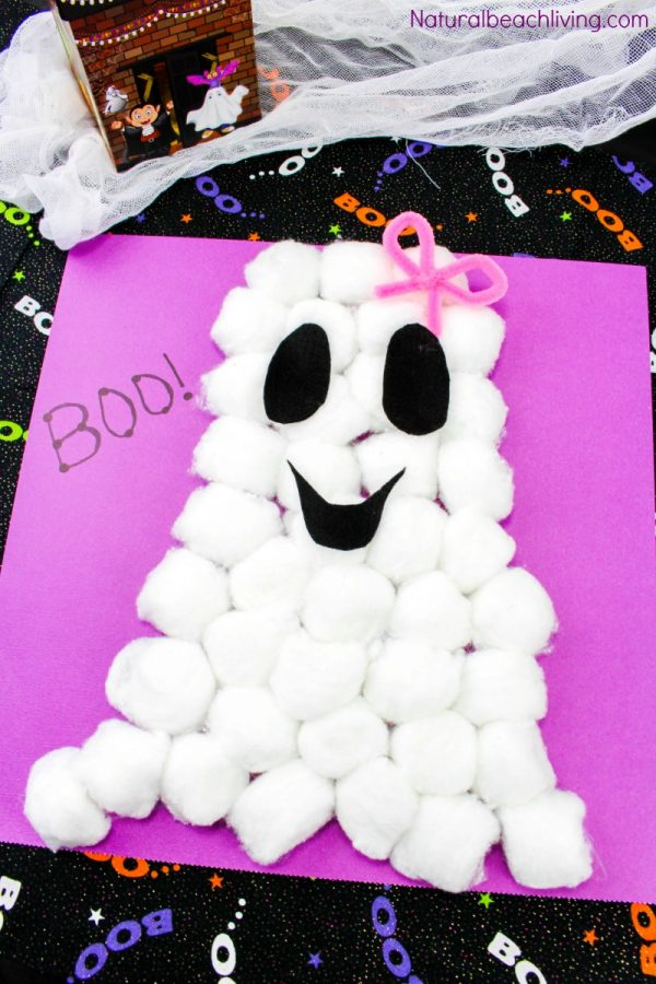 Ghost craft from cotton balls.