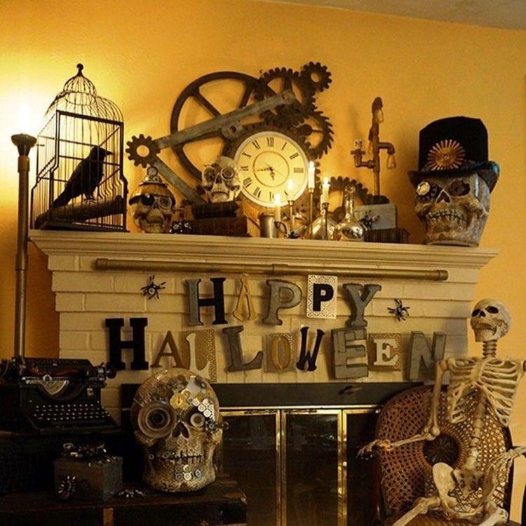 Happy Halloween indoor decor.