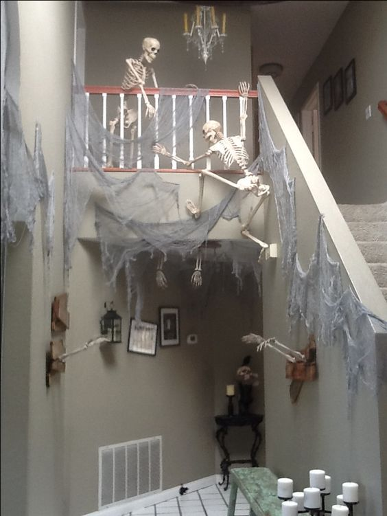 Haunted house ready for Halloween party.