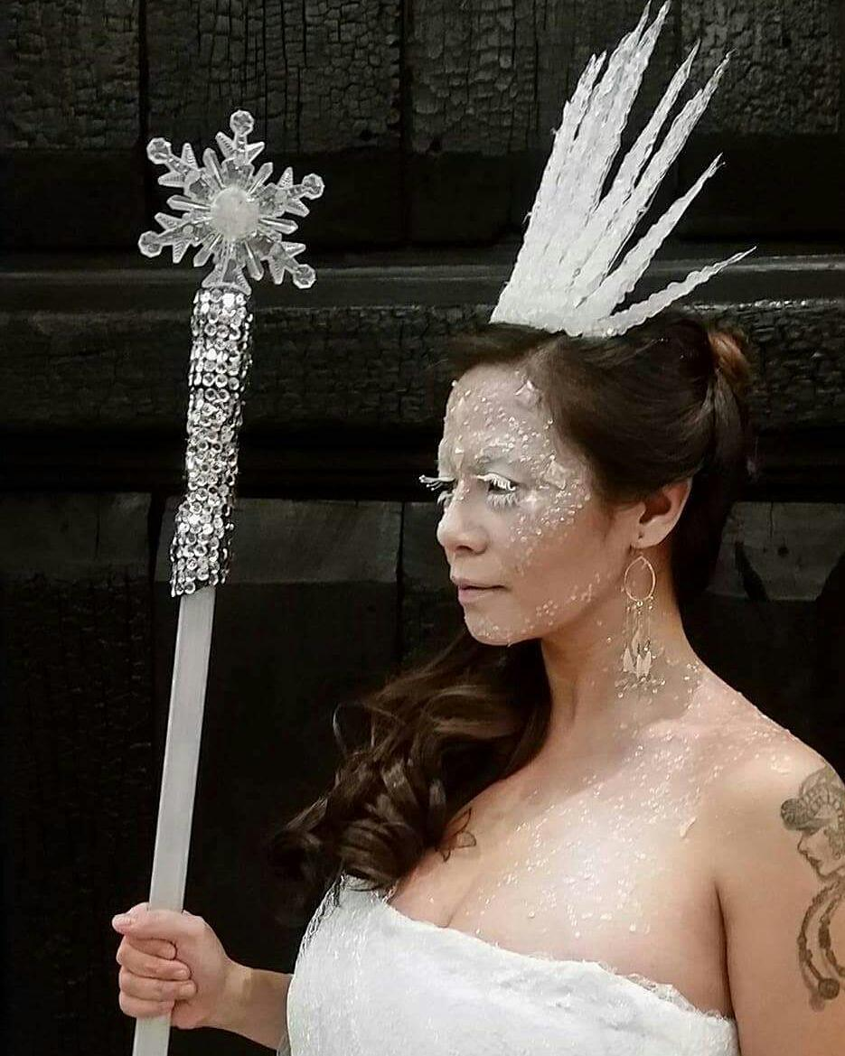 Ice queen ready for Halloween party. Pic by roannajamir
