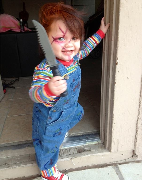 Killer baby costume idea.