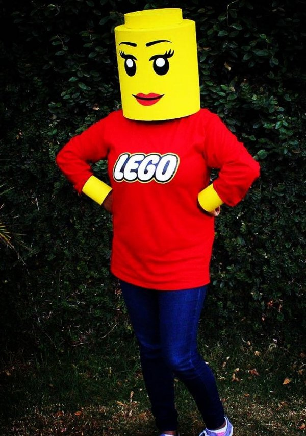 Lego girl ready for Halloween party. Pic by gigidisena