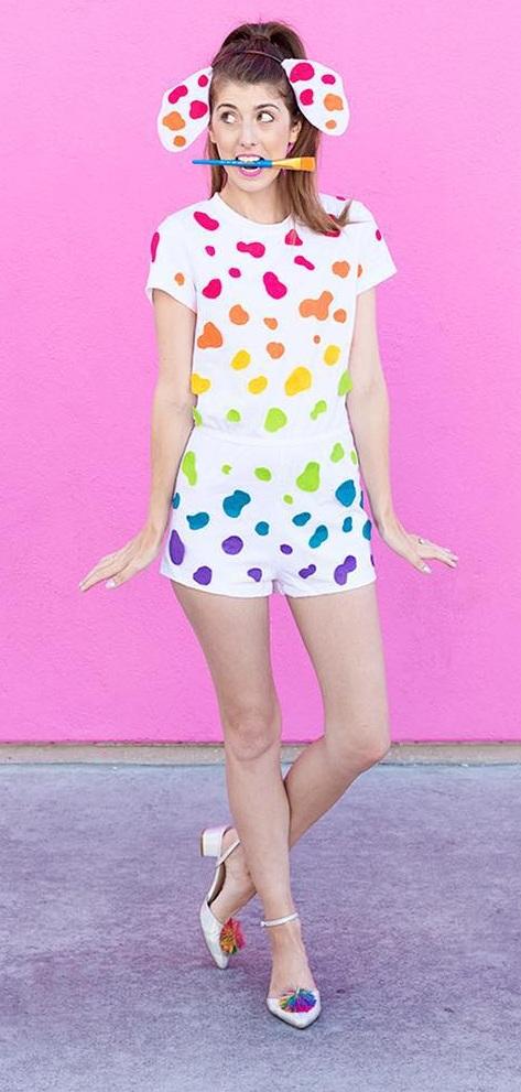 Lisa Frank costume for Halloween. Pic by studiodiy