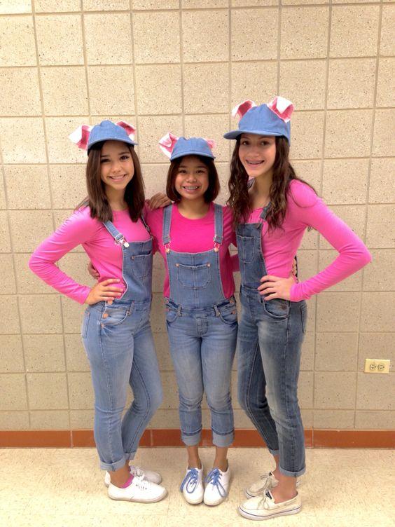 Little pigs Halloween costume idea.