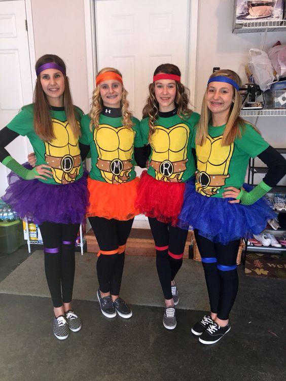 Pretty Ninja Turtle Teen Halloween Costume.