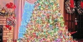 Rocking rainbow theme Christmas tree decor. Pic by jinglebellschristmass