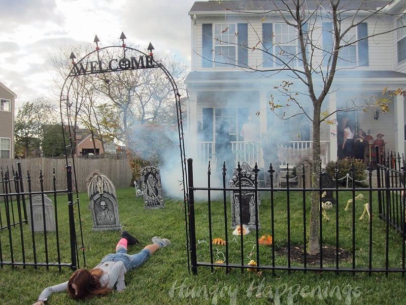 Scary halloween outdoor decor.