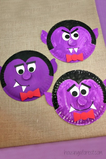 Silly paper plate dracula.