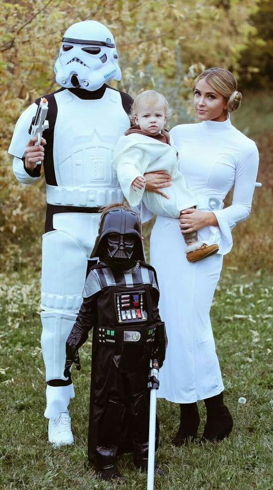 Starwar family costumes.