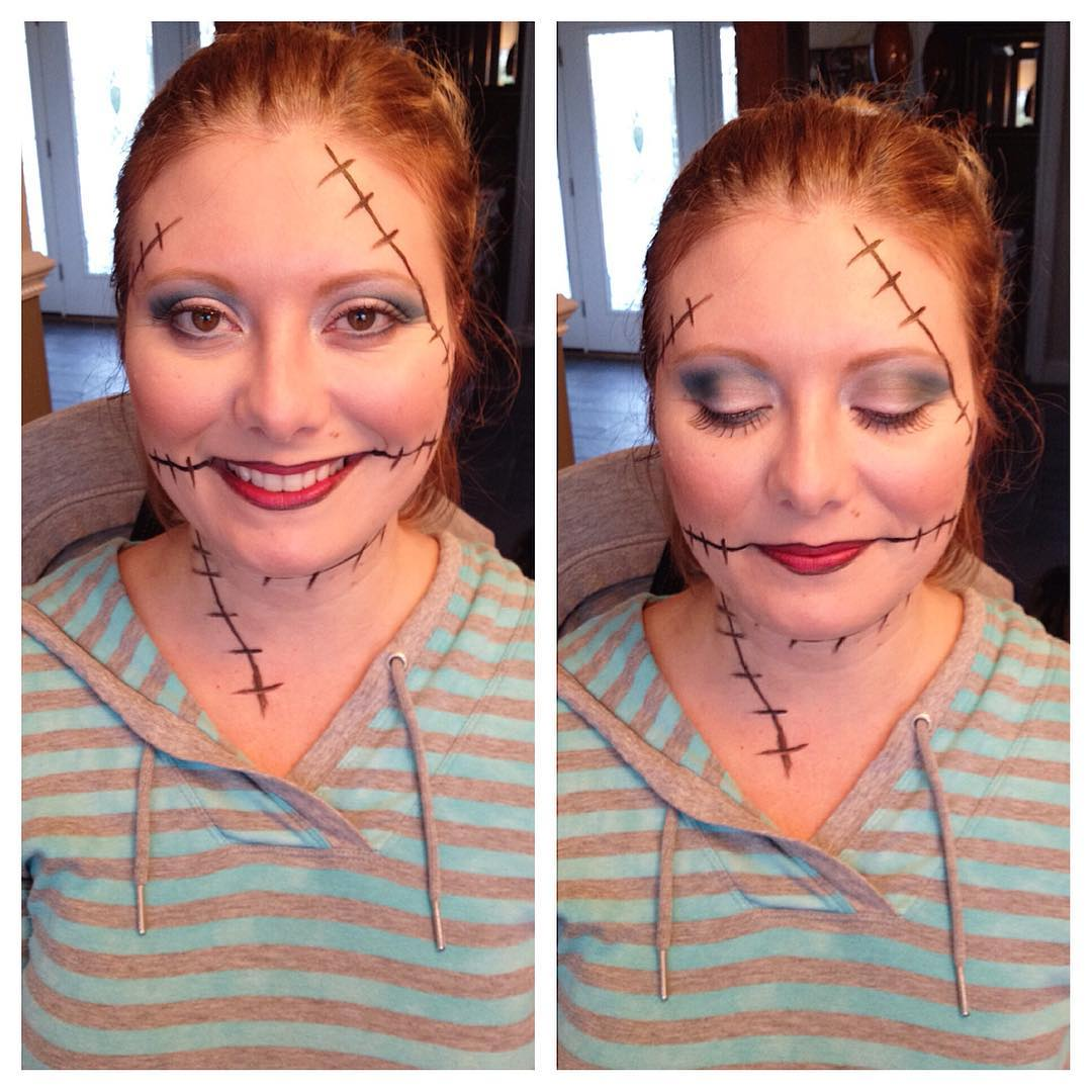 Stiches on face and neck perfect for Halloween party.