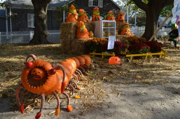 Stunning pumpkin outdoor decoration for Halloween.